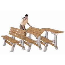 Make Your Own Picnic Table Bench picnic table bench kit ready to assemble kits lumber