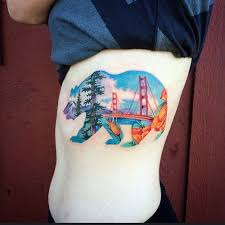 california bear tattoo design creativefan