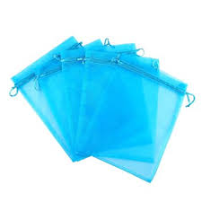 blue gift bags anleolife 100pcs blue sheer organza bags 3x4 inch