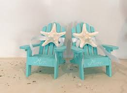 chair cake topper wedding cake topper 2 mini adirondack chairs with starfish
