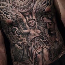 awesome angel tattoo by jun cha tattoo ideas
