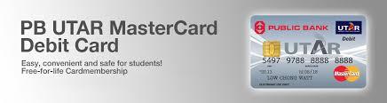 free debit card bank berhad pb utar mastercard debit card