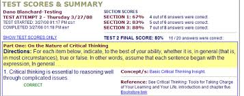 online critical thinking basic concepts test