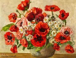 Vase With Red Poppies Bouquet Of Red Poppies 1940 Blumenstrauß Mit Rotem Klats U2026 Flickr
