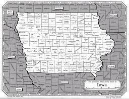map of iowa towns ia land maps
