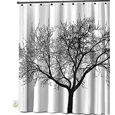 Curtains With Trees On Them Mildew Resistant Shower Curtain Fabric 72x72 Tree
