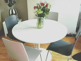 new john lewis large round white dining kitchen table with four