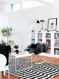 tip of the week black and white stripped rugs décor aid