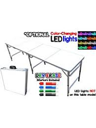 standard party table size folding tables amazon com