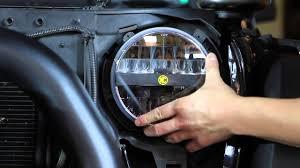 headlights jeep wrangler kc hilites jk jeep wrangler headlight install conversion