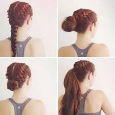 hairstyle to distract feom neck 10 gym hairdos that go far beyond the treadmill simple ponytails