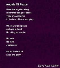 alan walker hope angels of peace poem by dave alan walker poem hunter