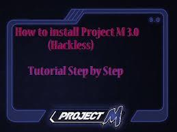 how to install project m how to install project m 3 0 youtube