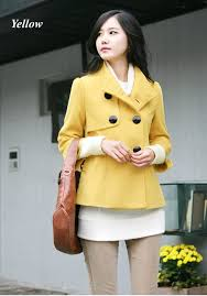 new women wool coat lady winter short overcoat preety stand up