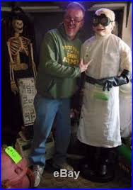 doctor shivers life size mad scientist halloween prop gemmy talks
