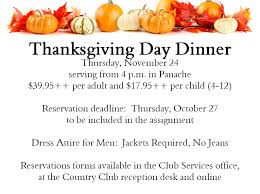 thanksgiving day dinner boca west country club