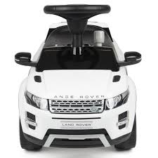 range rover land rover white new licensed genuine range rover evoque push along car red white