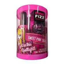 pink fizz nail polish set 5 pack sweet pink toys
