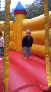 It Is Cool To Be - this 2 year old boy is the coolest kid inside this bounce house and