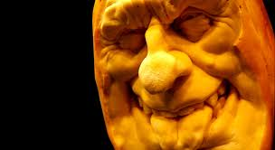 jumpin jester foam pumpkin fear face ray villafane carved