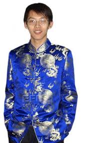 royal blue with golden dragon silk men u0027s jacket ccm39 custom