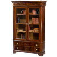 Tall Dark Wood Bookcase Furniture Tall Dark Brown Wooden Bookcases With Glass Doors And