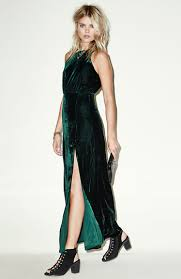 line u0026 dot kelly velvet maxi dress in dark green dailylook