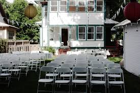 keep smiling our backyard wedding
