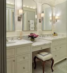 Bathrooms With Double Vanities Bedroom Double Vanity Make Up Design Paneled Mirrors Master