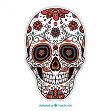 ornamental sugar skull vector free