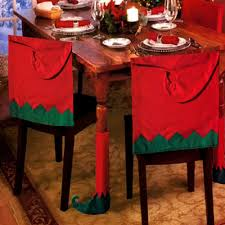 santa chair covers 4 hat chair covers table leg cover christmas party