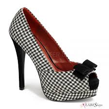 houndstooth home decor houndstooth bella peep toe pump womens high heel retro shoe