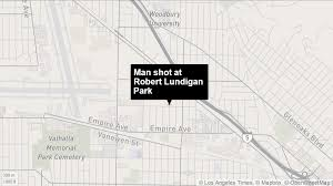 Gang Map Los Angeles by Man Injured In Gang Related Shooting At Robert Lundigan Park In