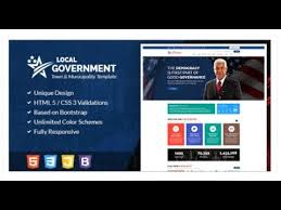 free bootstrap templates for government local government html template for town municipality websites