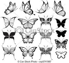 butterfly drawings black and white collection 34