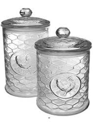 set 2 rooster french country cottage kitchen canisters av4nd035