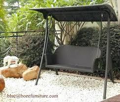 Patio Chair Swing Rattan Garden Swing Tripod Design Outdoor Rattan Furniture Patio