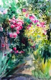 283 best watercolor garden images on pinterest paintings