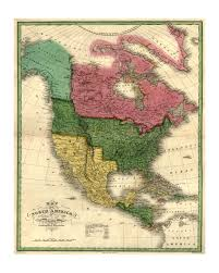 United States Map Art by 1826 Map Of North America Old Maps And Prints Vintage Art