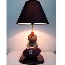 ohio state buckeyes table lamp brutus with football mascot lamp