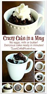 crazy cake in a mug no eggs milk or butter ready in minutes
