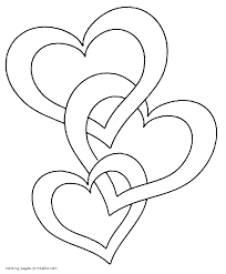 free printable valentine heart coloring pages printable of hearts