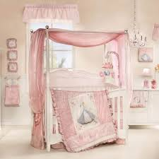 Nursery Furniture Set by Affordable White Girls Nursery Furniture Set Featuring Four Poster