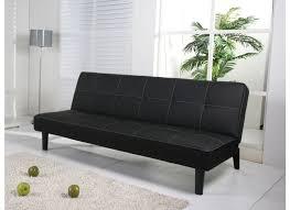 canapé lit 1 personne canapé lit deuce 1 personne synthétique similicuir noir weba meubles