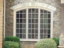 exterior design interesting wallside windows with roman blinds