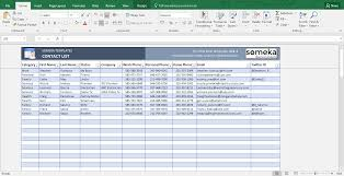 Excel Templates Free Contact List Template In Excel Free To Easy To Print
