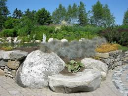 rustic simple rock garden ideas