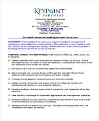 Property Management Resume Management Resumes 9 Free Word Pdf Format Download Free