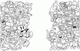 super smash bros coloring pages itgod