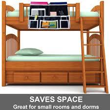 Bedside Shelf Dorm Amazon Com Fancii 10 Pocket Bedside Caddy Hanging Storage